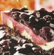Pay de queso con blueberries